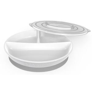 Twistshake dělený talíř 6+m bílý