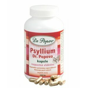 Dr.Popov Psyllium 120 kapslí
