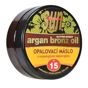 Sun Vivaco SUN Opalovací máslo Glitter effect s bio arganovým olejem SPF15 200ml