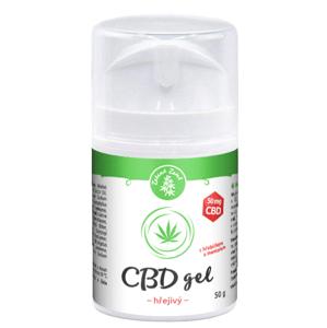 Zelená země CBD hřejivý gel 50g