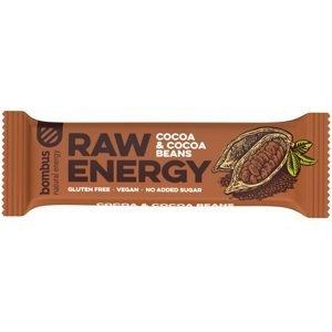 Bombus, tyčinka RAW energy, cocoa&cocoa beans, 50 g