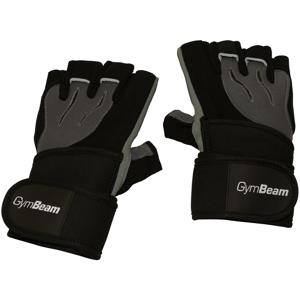 GymBeam  Fitness Rukavice Ronnie – Gym Beam black grey – velikost XS