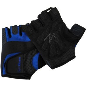 GymBeam Fitness rukavice Dexter black blue – velikost L