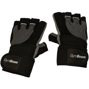 GymBeam  Fitness Rukavice Ronnie – Gym Beam black grey – velikost XL