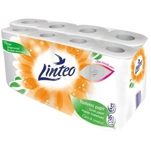 Linteo Toaletní papír 3-vrstvý bílý 16 rolí