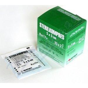 Batist  Gázový kompres STERILKOMPRES 5x5 25x2ks