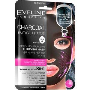 Eveline Cosmetics  Eveline Charcoal - Hydratační pleťová textilní maska s uhlím 20ml