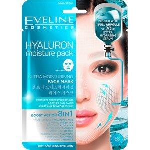 Eveline Cosmetics  Eveline Hyaluron - Ultra hydratační pleťová textilní maska 20ml