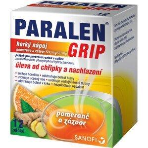 Paralen® grip horký nápoj pomeranč a zázvor 12 sáčků