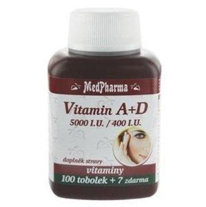 MedPharma Vitamín A+D ( 5000 I.U./ 400 I.U.) 107 tobolek