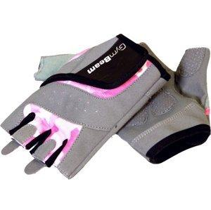 GymBeam Fitness Dámské rukavice Camo Pink – velikost XS