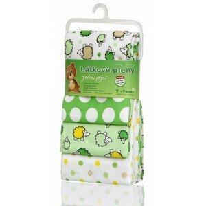 T-tomi  Látkové pleny, green hedgehogs / zelení ježci
