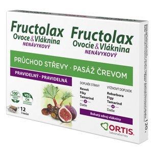 Ortis Fructolax Ovoce&Vláknina 12 žvýkacích kostek