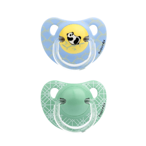 Suavinex Šidítko Anatomické silikon +18m - 2ks - Modrá panda