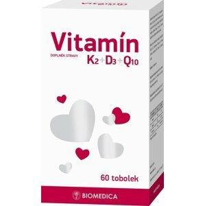 Biomedica Vitamín K2+D3+Q10 60 tobolek