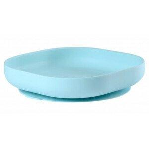 Beaba  Talíř silikonový s přísavkou Blue