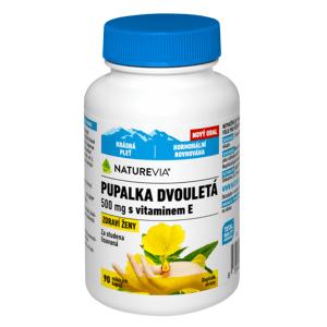 Swiss NatureVia Pupalka dvouletá 500mg+vitamin E 90 kapslí
