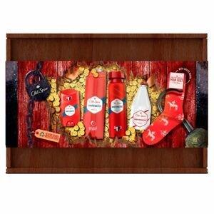 Old Spice Dárková sada pro muže v dřevěné krabičce se 4 výrobky Whitewater a ponožkami