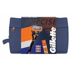 Gillette Dárková sada Fusion5 - Holicí Strojek + 3 hlavice + gel na holení