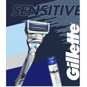 Gillette Dárková sada Skinguard - Holicí strojek + gel na holení