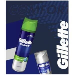 Gillette Dárková sada Series - Gel na holení + hydratační krém