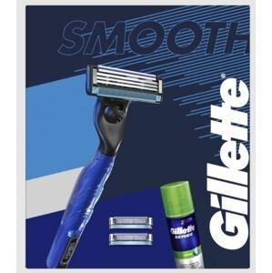 Gillette Dárková sada Mach3 Start - Holicí strojek + 2 hlavice + gel na holení