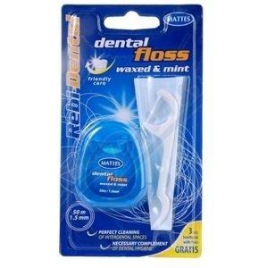 Rebi-Dental  Dentální nit voskovaná mentolová 50m Profi-care