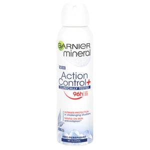Garnier Action Control + Clinical Antiperspirant ve spreji s ochranou až na 96 hodin 150ml