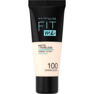 Maybelline Fit Me sjednocující matující make-up pro normální až mastnou pleť 100 Warm Ivory 30ml