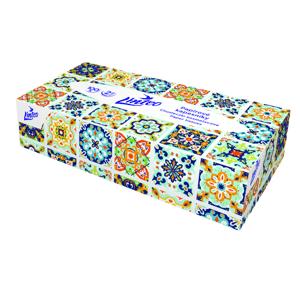 LINTEO Papírové kapesníky 2-vrstvé, bílé 100ks BOX