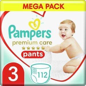 Pampers Premium Pants Plenkové Kalhotky Velikost 3, 112 Kalhotek, 6kg-11kg