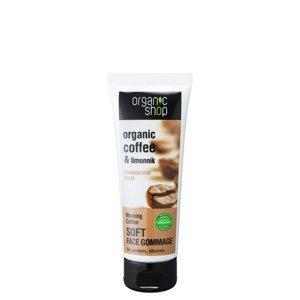 Organic Shop Jemný obličejový peeling Ranní káva 75ml