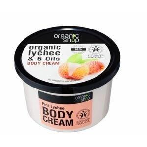 Organic Shop Tělový krém Růžové liči 250ml