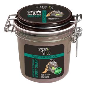 Organic Shop Čisticí černé tělové mýdlo Marocký hammam 350ml