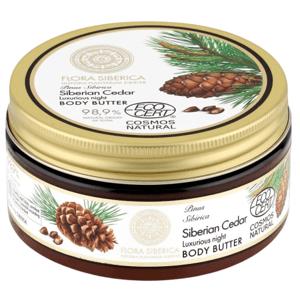 Natura Siberica  Flora Siberica Luxusní noční tělové máslo, Sibiřský cedr 300ml