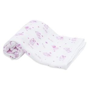 Scamp  Látkové pleny 70x70 3ks růžové-medvídek