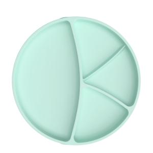 Everyday Baby Talíř silikon s přísavkou Mint green