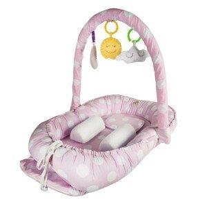 BabyJem hnízdečko Between Parents Baby Bed Pink