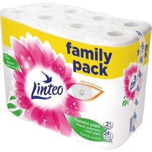 Linteo Toaletní papír family pack 2vrstvý 19m100% celuloza 24 rolí