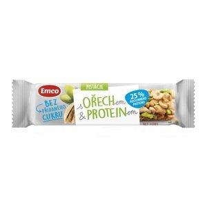 Emco Tyčinka s ořechem a proteinem, pistácie 35g