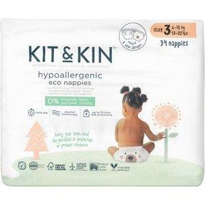Kit & Kin Eko plenky, velikost 3 (34 ks)