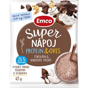 Emco Super nápoj protein a oves Čokoláda a kokosové mléko 45g