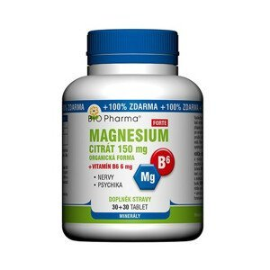 BIO Pharma Magnesium citrát Forte 150mg+vit.B6 6mg 30+30 tablet