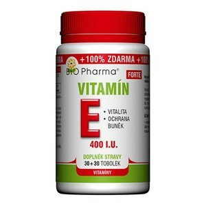 BIO Pharma Vitamín E Forte 400 I.U. 30+30 tobolek