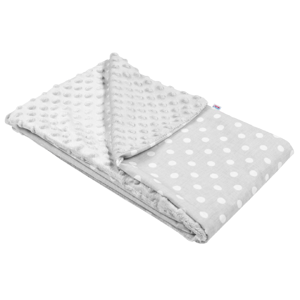 New Baby Dětská deka z Minky šedá 80x102cm