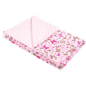 New Baby dětská deka z Minky růžová 80x102cm