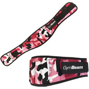 GymBeam Dámsky fitness opasek Pink Camo camo – velikost M
