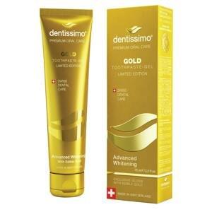 Dentissimo® švýcarská zubní pasta GOLD Advanced Whitening 75ml