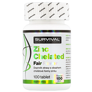 Survival Nutrition Zinc Chelated Fair Power 100 tablet