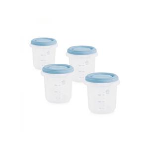 Miniland  Kelímky na jídlo s víčkem Blue 4ks